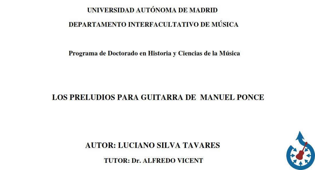 Analisi dei 24 Preludios para Guitarra di Manuel Ponce
