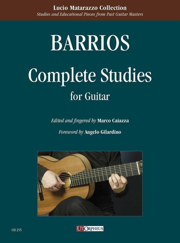 Barrios Complete Studies for Guitar, Marco Caiazza