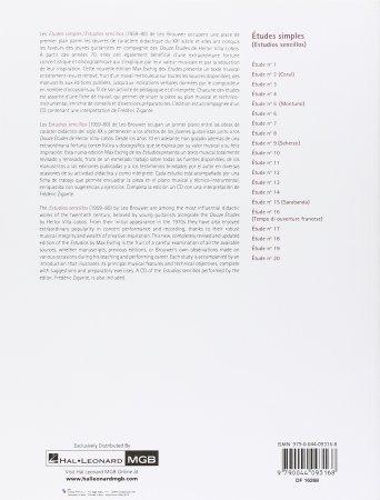 Leo Brouwer Etudes Simples Pour Guitare - LIST.jpg