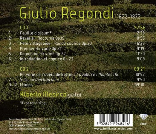 Regondi Complete Music for Solo Guitar Alberto Mesirca - TL.jpg