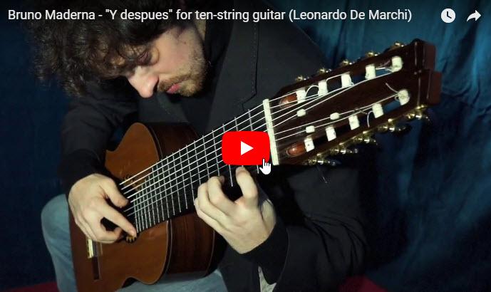 Bruno Maderna - Y despuès, Leonardo De Marchi