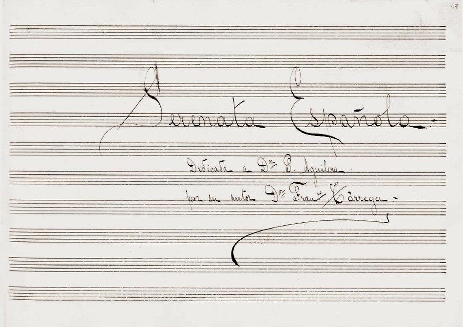 Serenata Española, opera inedita e sconosciuta di Francisco Tárrega