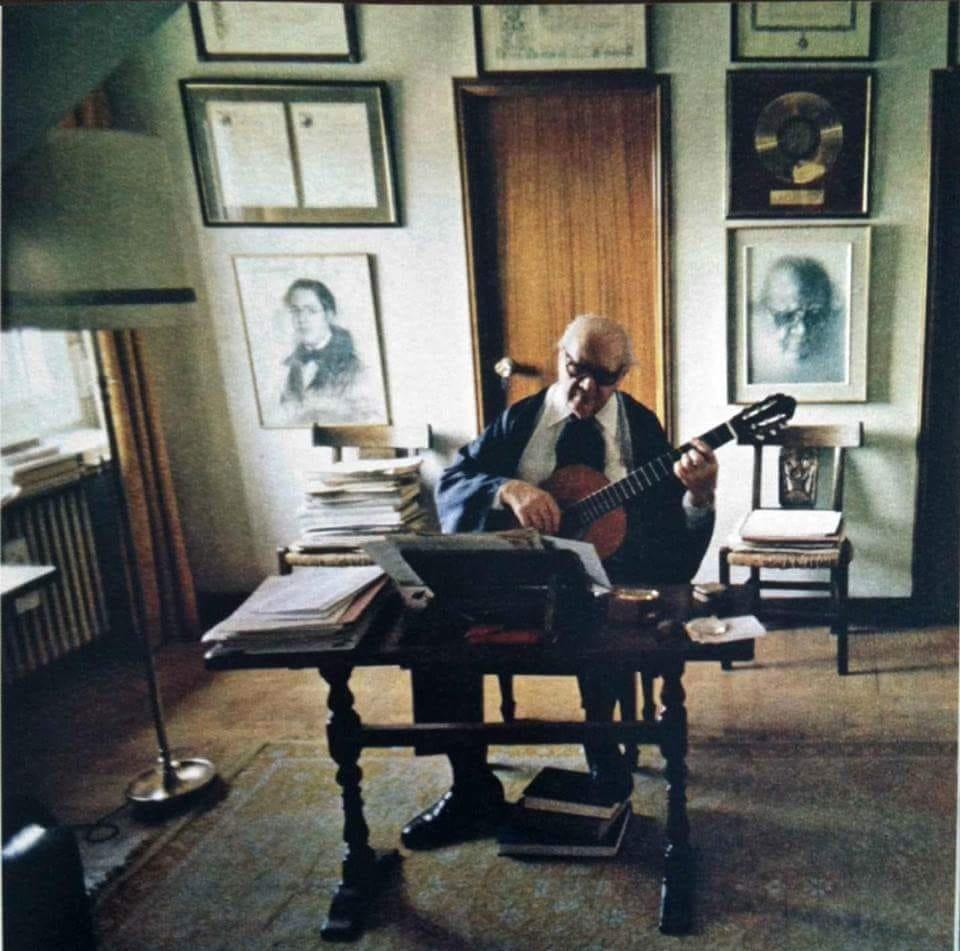 Foto storica di Andrés Segovia