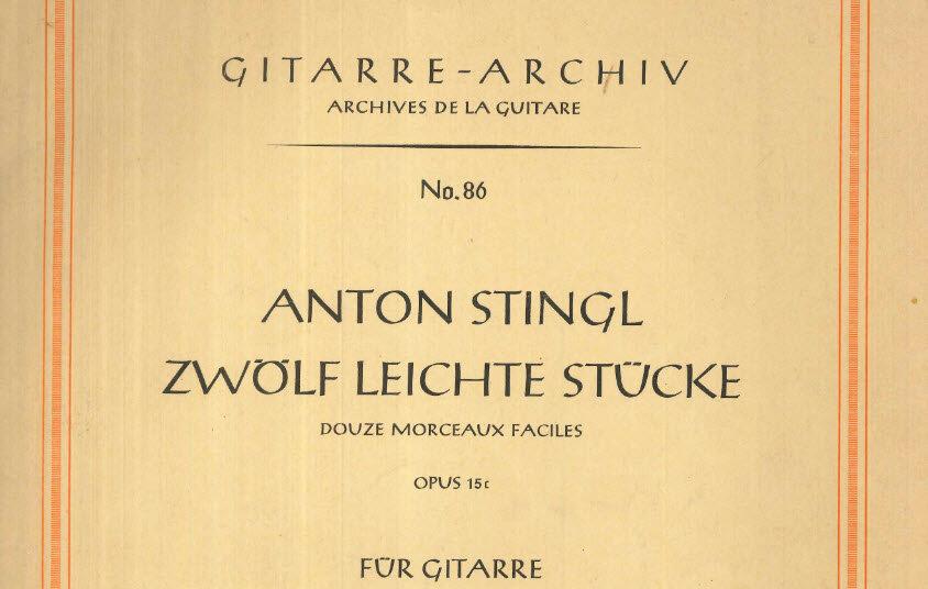 12 Leichte Stück, Anton Stingl